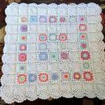 Lacy Squares Baby Blanket / Lap Bla..