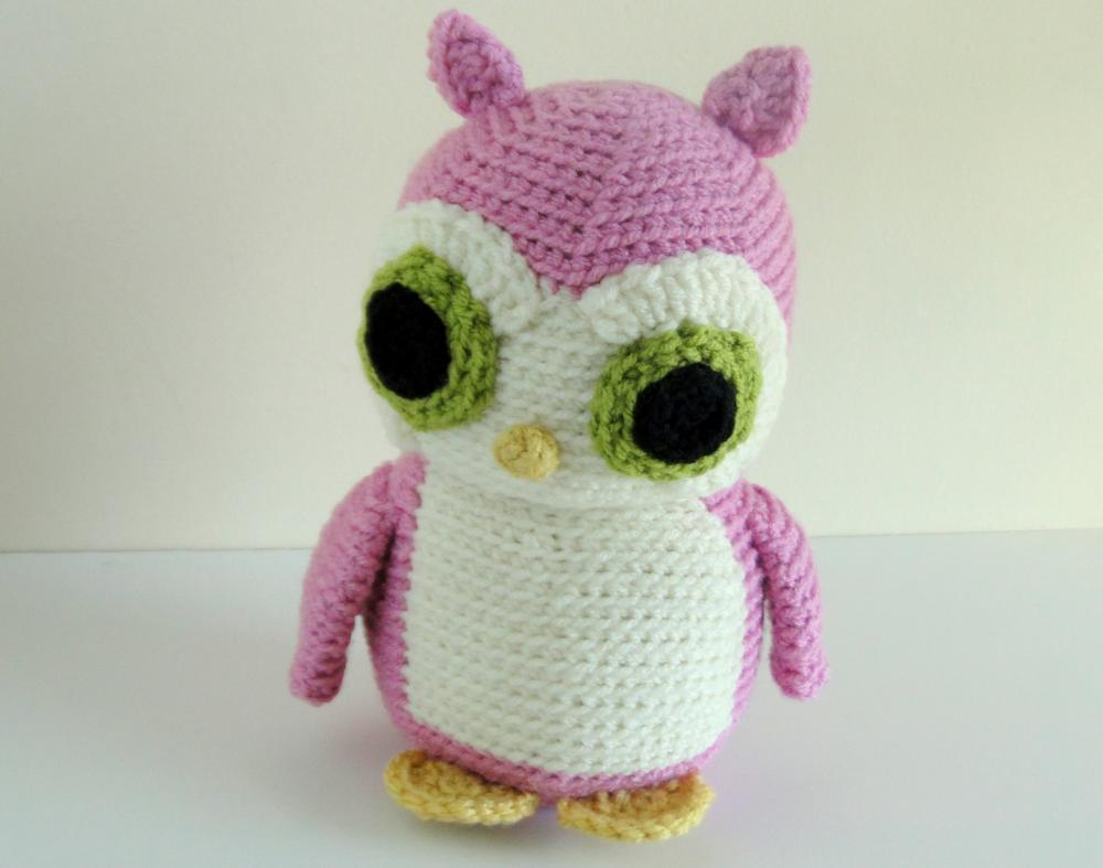 Pink Owl Stuffie